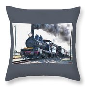 Steamtrain To Carltoncreekhurst L B Throw Pillow