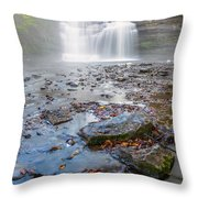 Steamy Morning At Pixley Falls Throw Pillow