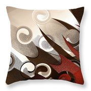 Steel 1 Throw Pillow