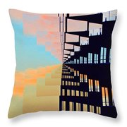 Steel And Clouds At Sunset 7  Throw Pillow