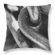 Steel Chain Link Throw Pillow