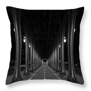 Steel Colonnades In The Night Throw Pillow