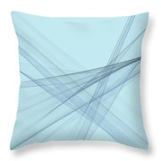 Steel Computer Graphic Line Pattern Throw Pillow