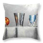 Steel Cup Throw Pillow