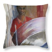 Steel Drums Throw Pillow