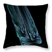 Steel Feathers Throw Pillow