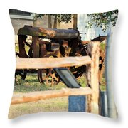 Steel  For Rocks Throw Pillow