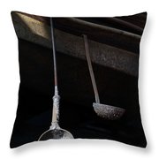 Steel Ladles Throw Pillow
