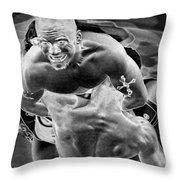 Steel Men Fighting 2 Throw Pillow