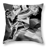 Steel Men Fighting 4 Throw Pillow