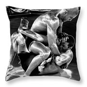 Steel Men Fighting 5 Throw Pillow
