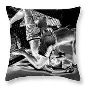 Steel Men Fighting 7 Throw Pillow