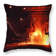 Steel Mill--china Throw Pillow