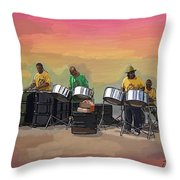 Steel Pan Players Antigua Throw Pillow