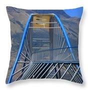 Steel Pedestrian Bridge In Ibarra Throw Pillow