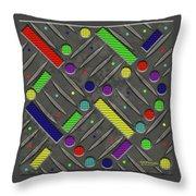 Steel Plate Geometrics Throw Pillow