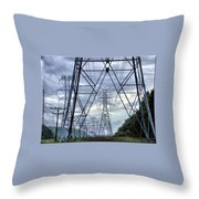 Steel Soldiers Marching To The Sea Throw Pillow