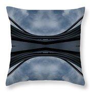 Steel Waves Throw Pillow