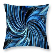 Steel Whirlpool Throw Pillow