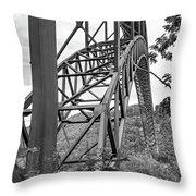 Steel Wonder 2 Bw Throw Pillow