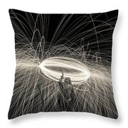 Steel Wool Light Works Throw Pillow
