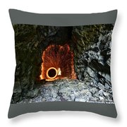 Steel Wool Photography In A Cave Throw Pillow