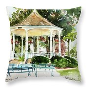 Steele Memorial Bandstand Throw Pillow
