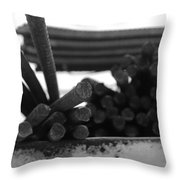 Steele Rods Throw Pillow