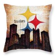 Steelers. Throw Pillow