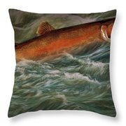 Steelhead Trout Fish No.143 Throw Pillow