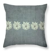 Steely Gray Bluer Version Throw Pillow