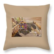 Steep Riding Throw Pillow