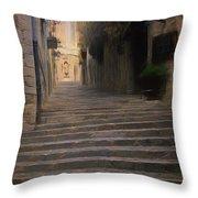 Steep Steps Of Girona Throw Pillow