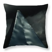 Steeple In The Clouds Throw Pillow