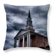 Steeple In The Sky Throw Pillow