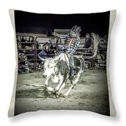 Steer Buck Out _c Throw Pillow