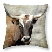 Steer Bull Throw Pillow