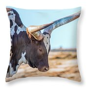 Steer Clear Throw Pillow