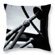 Steering Column Of Direction Throw Pillow