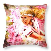Steffi Graf Madness Throw Pillow