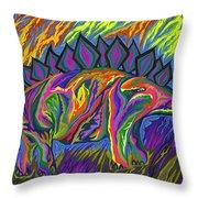Stegasaurus Colorado Throw Pillow