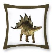 Stegosaurus Profile Throw Pillow