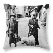 Stein And Toklas, 1944 Throw Pillow