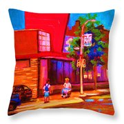 Steinbergs Supermarket Throw Pillow