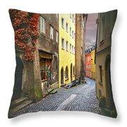 Steingasse Street Salzburg Austria  Throw Pillow