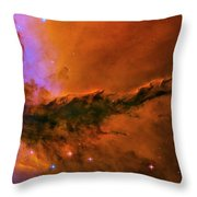 Stellar Spire In The Eagle Nebula Throw Pillow
