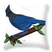 Stellari In Blue Throw Pillow