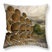 Stella's Pipes Throw Pillow