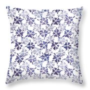 Stencilled Floral Throw Pillow by Jocelyn Friis