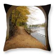 Step Into Fall Throw Pillow